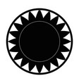 isolated big sun symbol vector image
