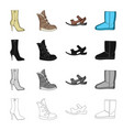 men s and women s shoes different types of shoes vector image
