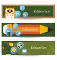 School Education Banner vector image