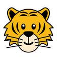 simple cartoon of a cute tiger vector image