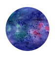 watercolor abstract space circle cosmic vector image