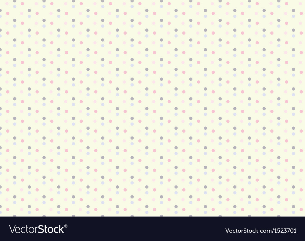 Baby girl pastel polka dots seamless pattern vector