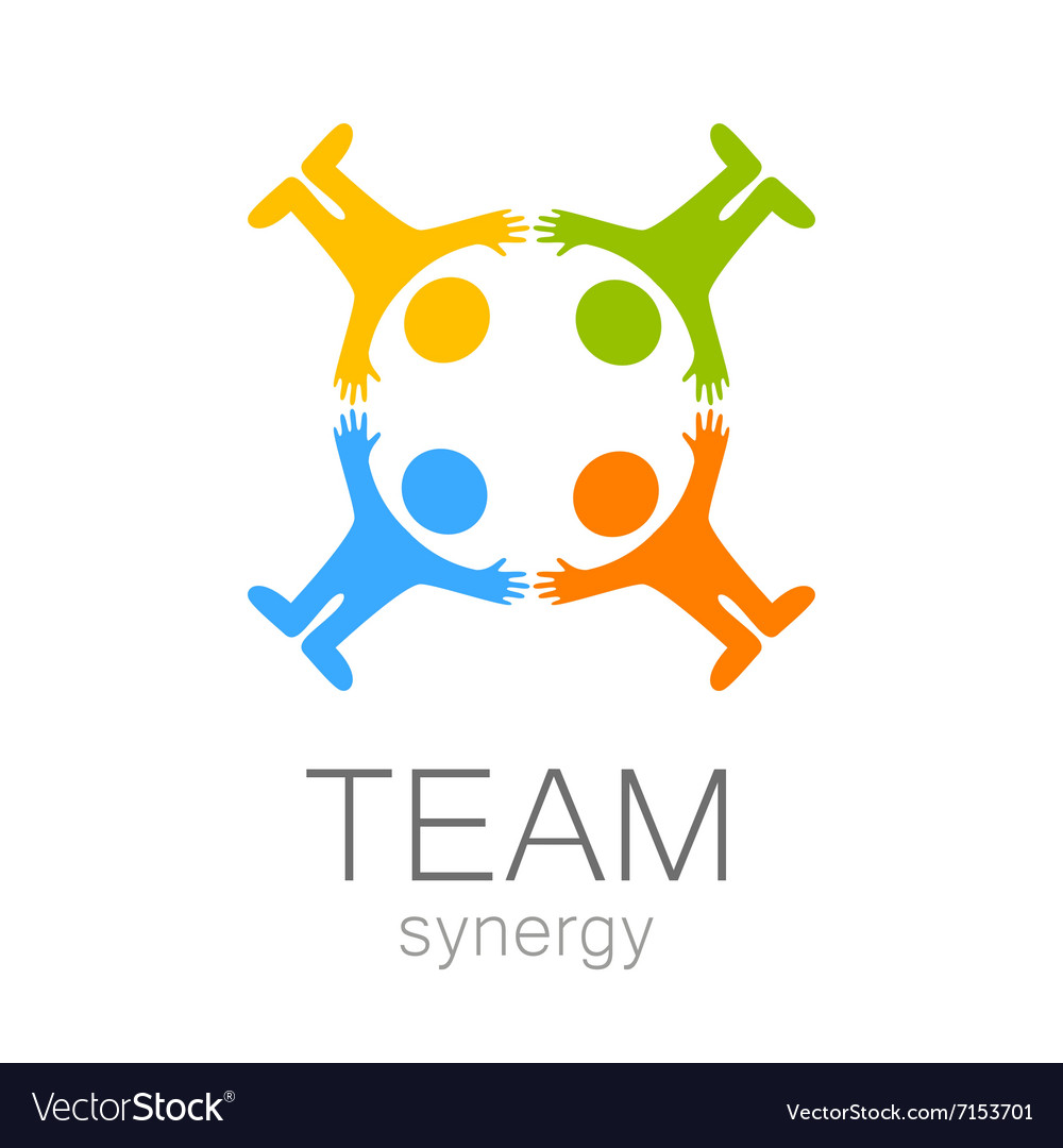 Team synergy logo vector