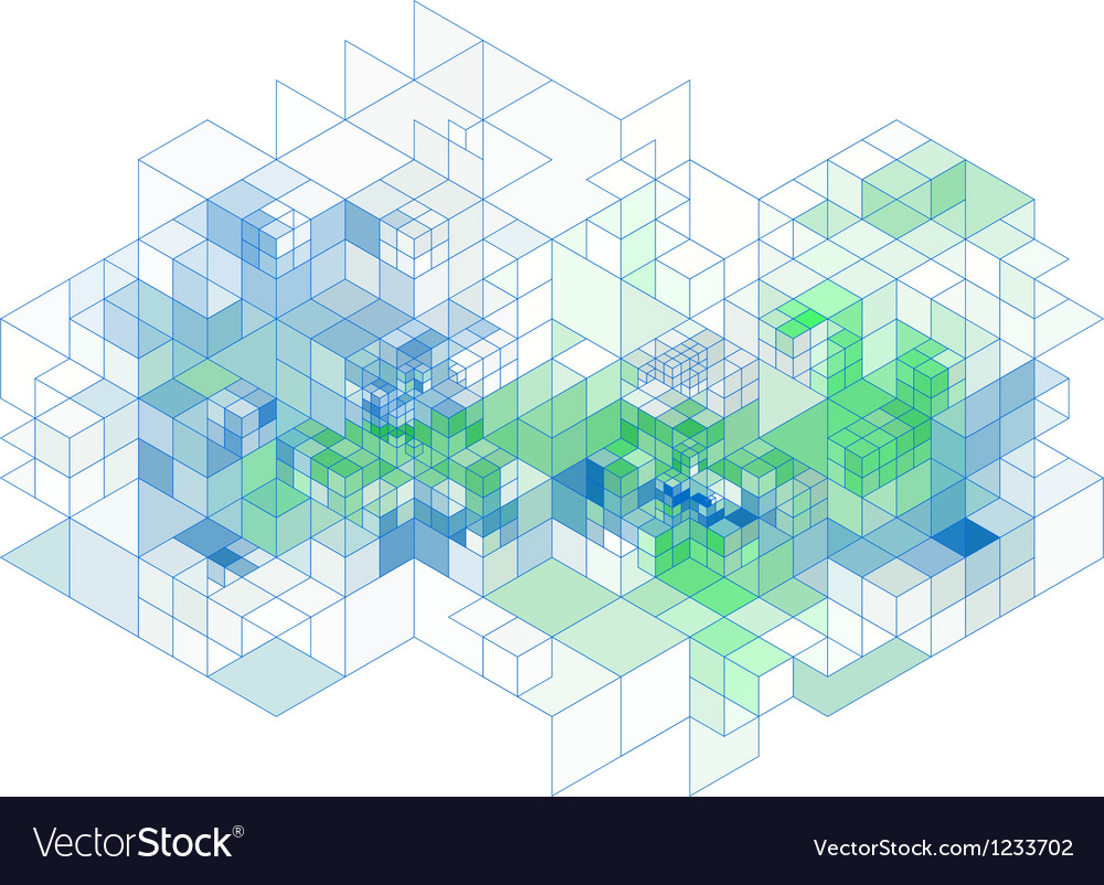 3d cubes abstract background vector