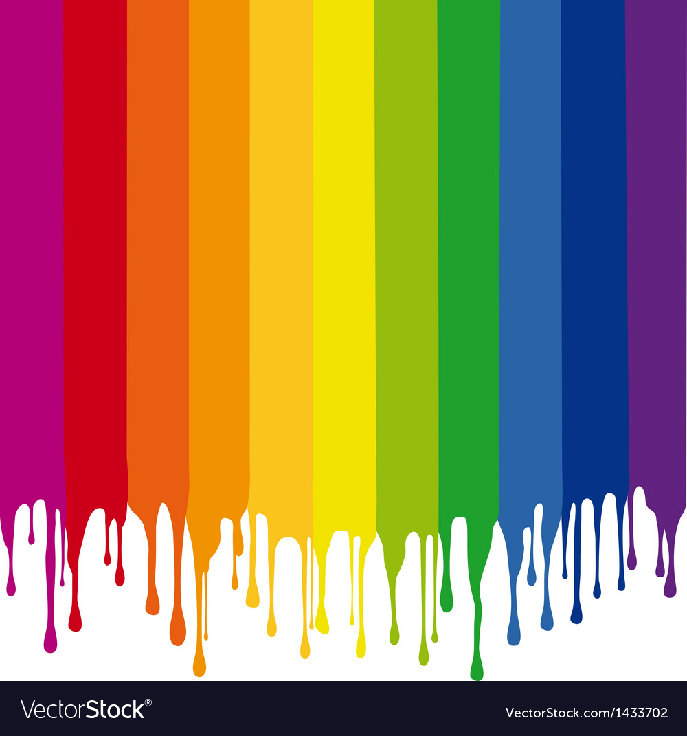 Colorful stripes painting with drops vector