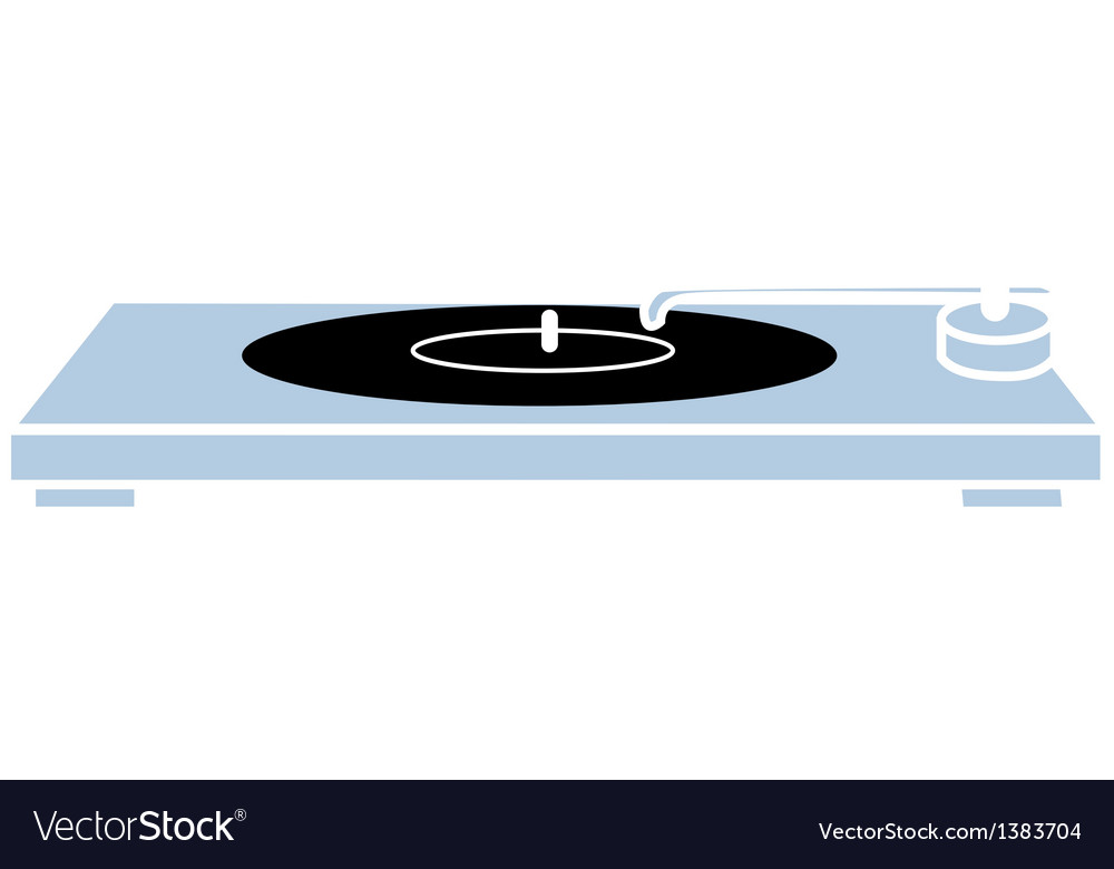 A view of a turntable vector