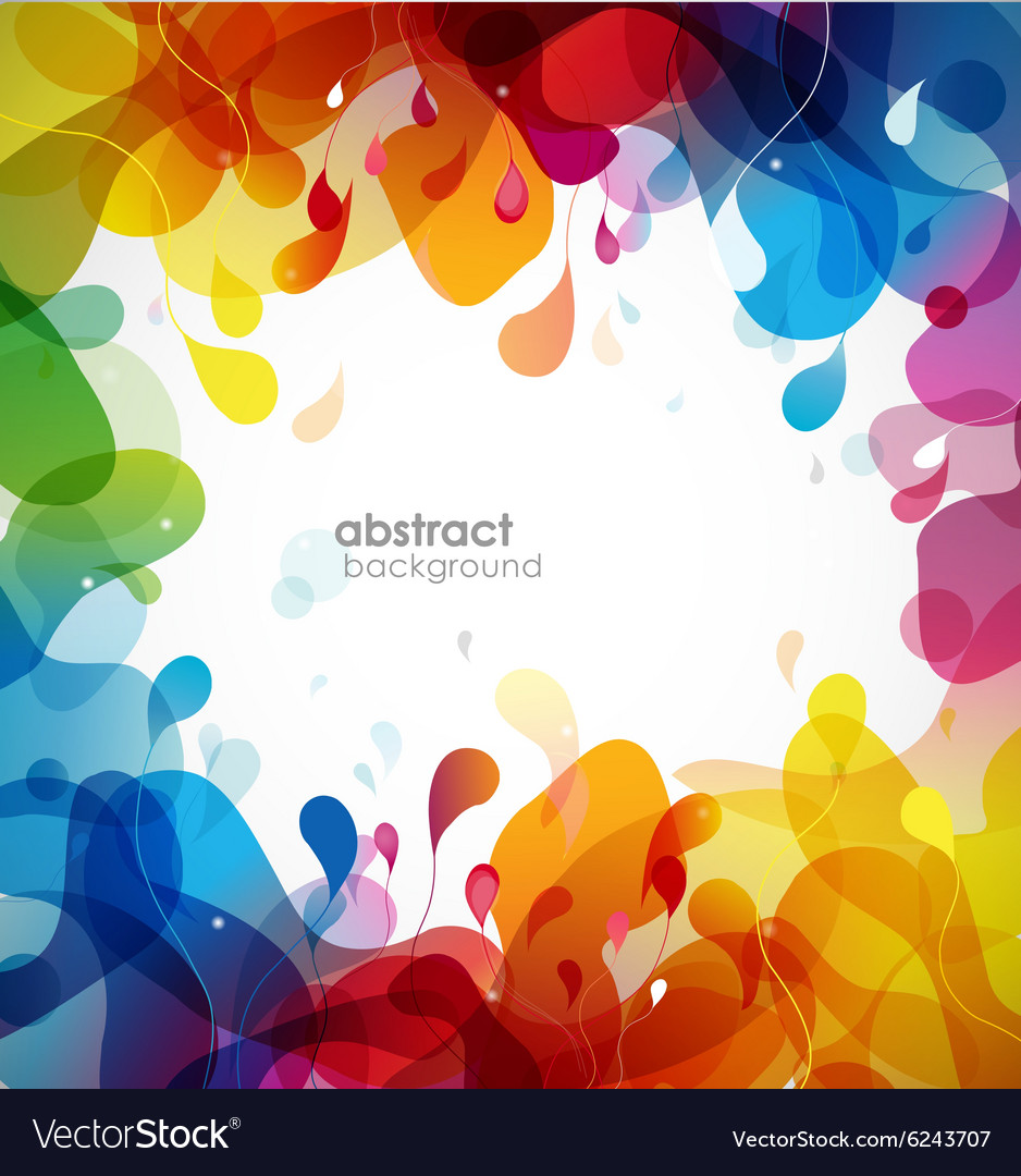 Colorful abstract background with flowers vector