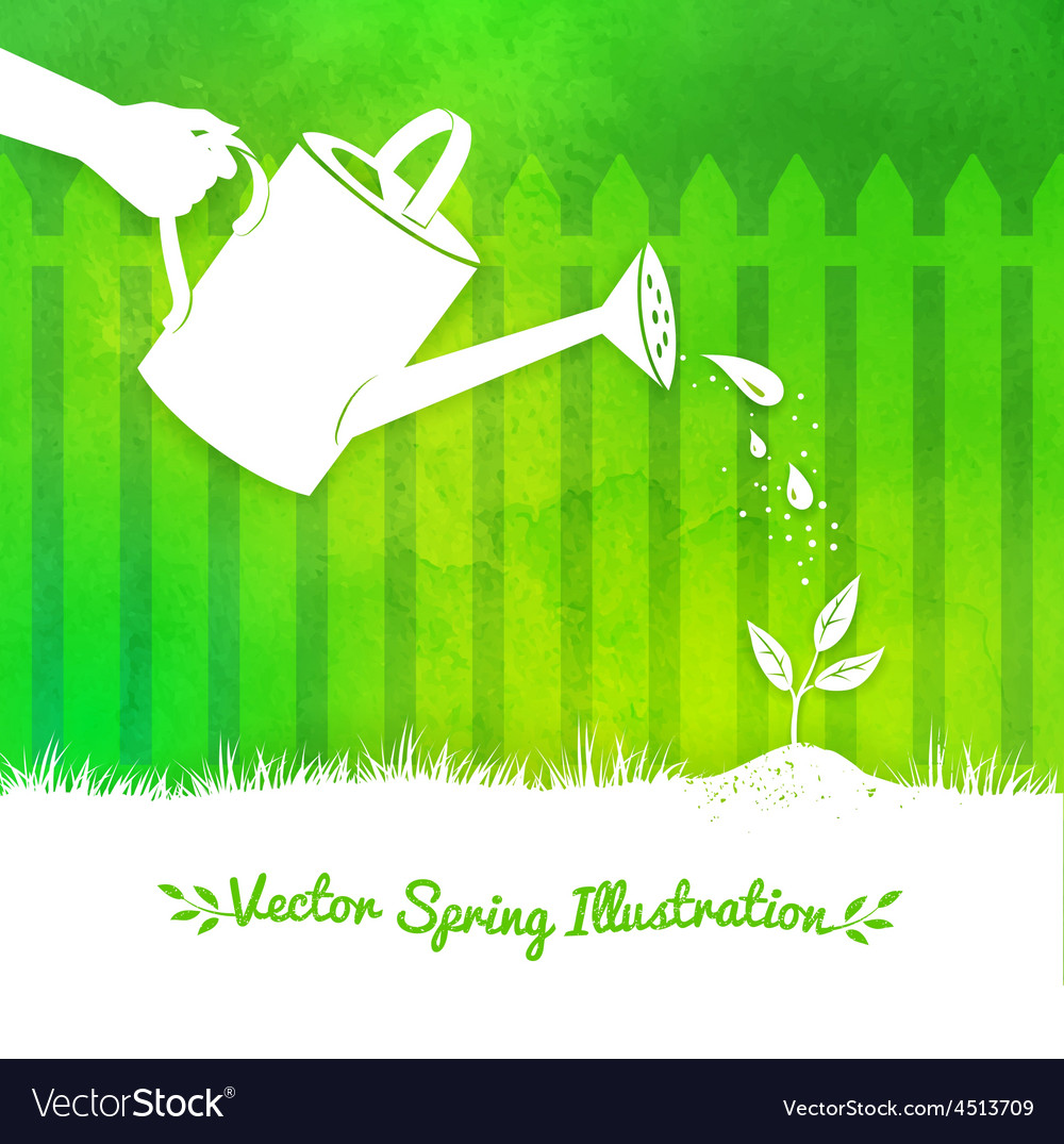 Gardening background vector