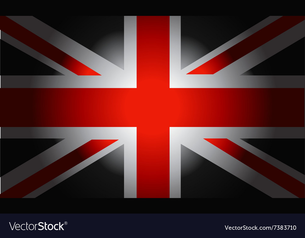 Black flag british vector