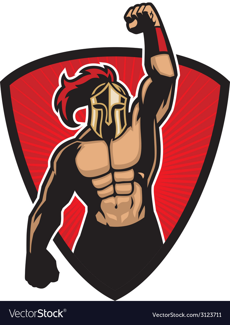 Big muscle warrior vector