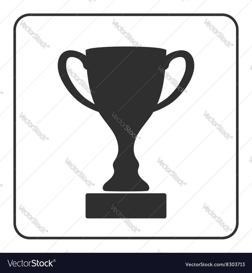 Trophy cup icon 2 vector