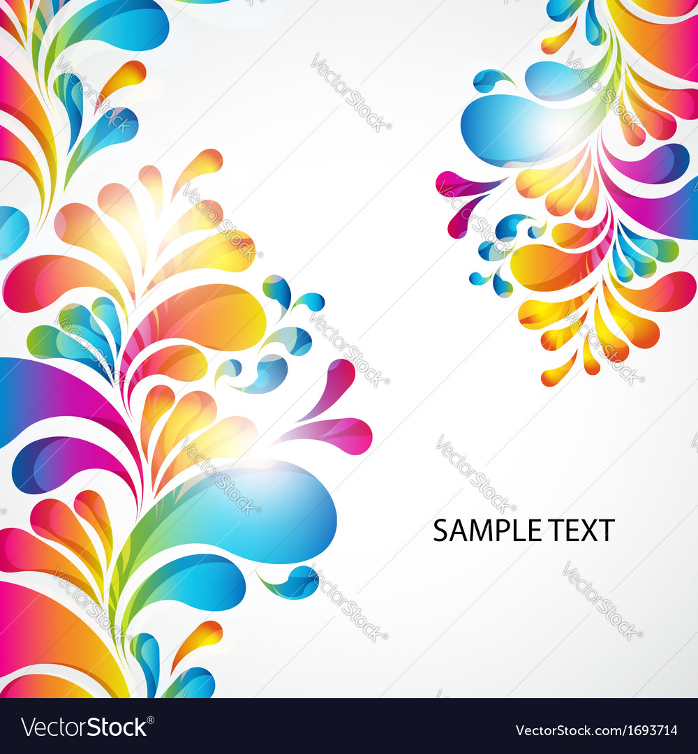 Abstract background with bright teardropshaped vector