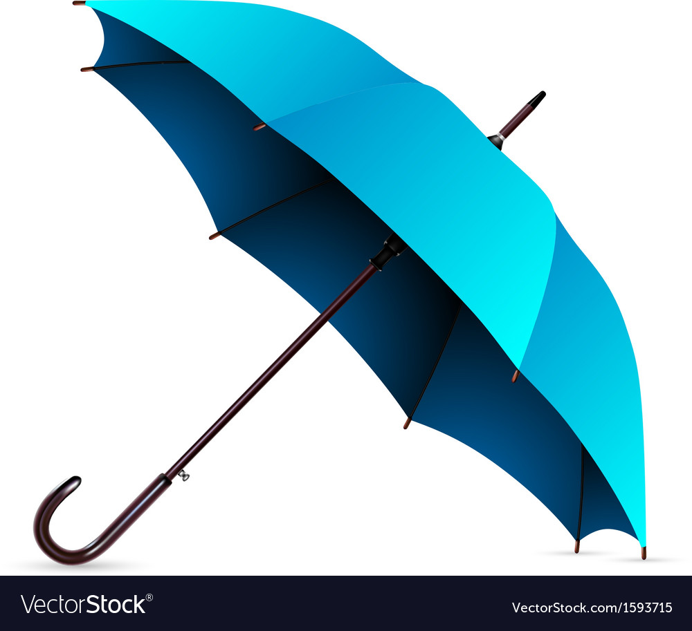 Umbrella blue vector