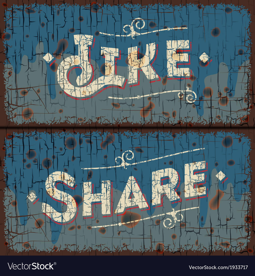 Like share words  social media concept vector