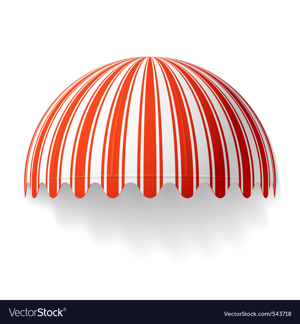 Dome awning vector