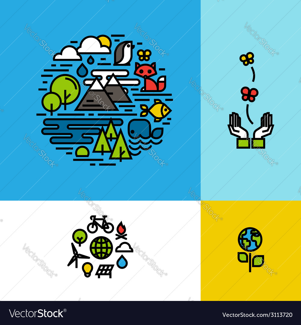 Environment ecology green planet concept vector