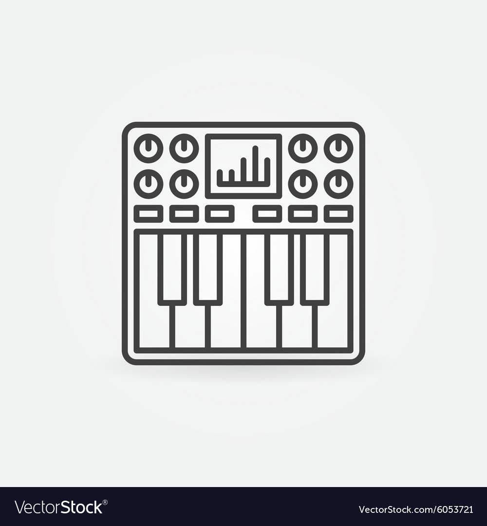 Synthesizer icon or symbol vector