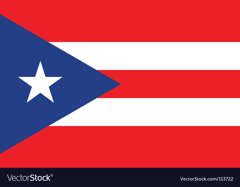 Puerto rice flag vector