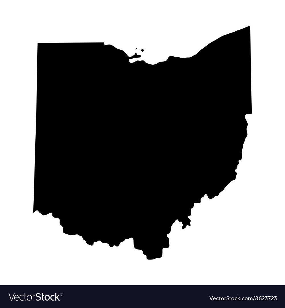 Map of the us state of ohio vector