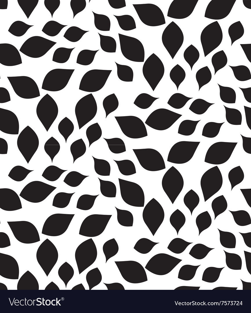 Geometric seamless pattern modern floral leaves vector