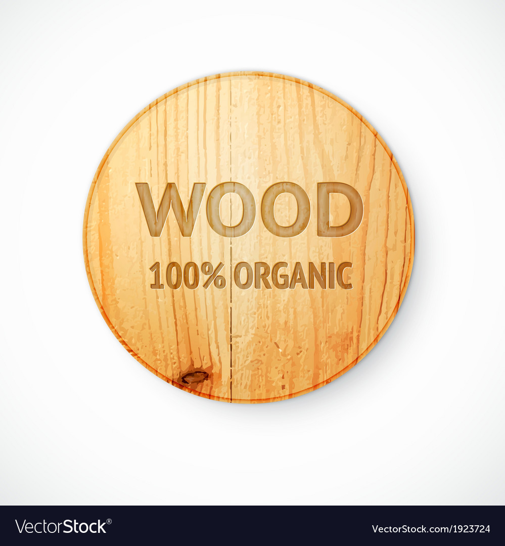 Radial shaped plate made of wood vector