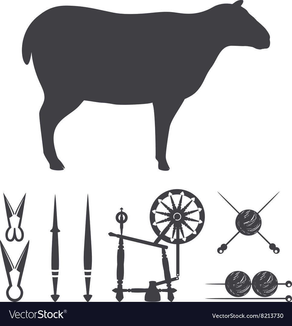 Silhouette of a sheep vector