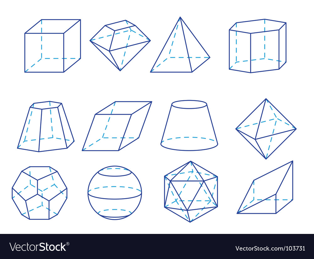 Geometry figures vector