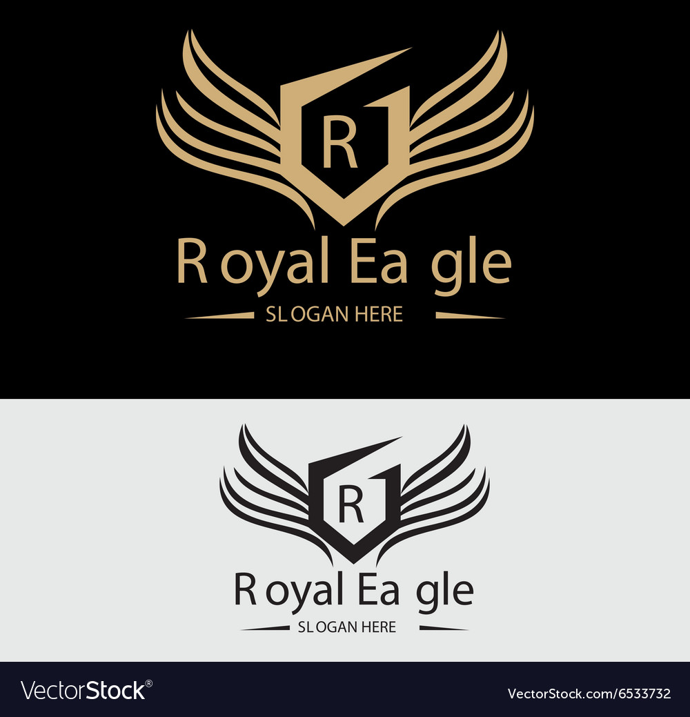 Royal eagle logo vector