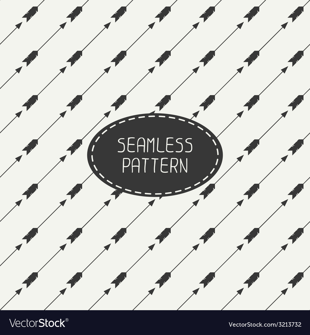 Seamless retro pattern with vintage hipster arrows vector