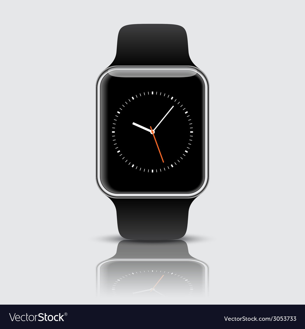 Apple watch wristwatch vector