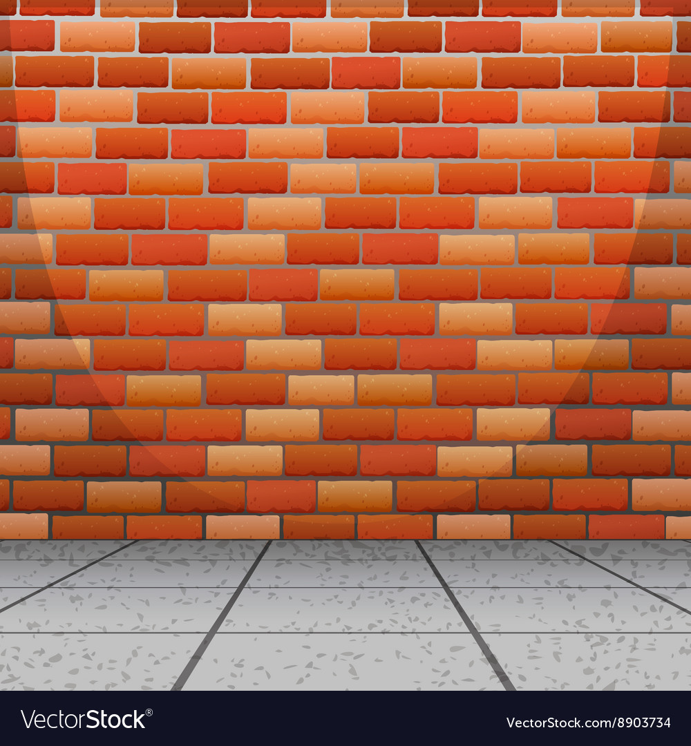 Background design with brick wall vector