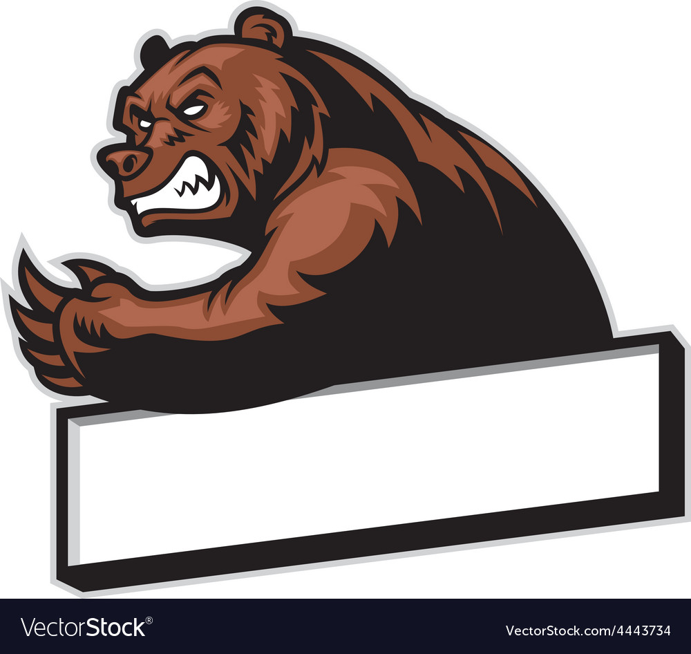 Crawling bear vector