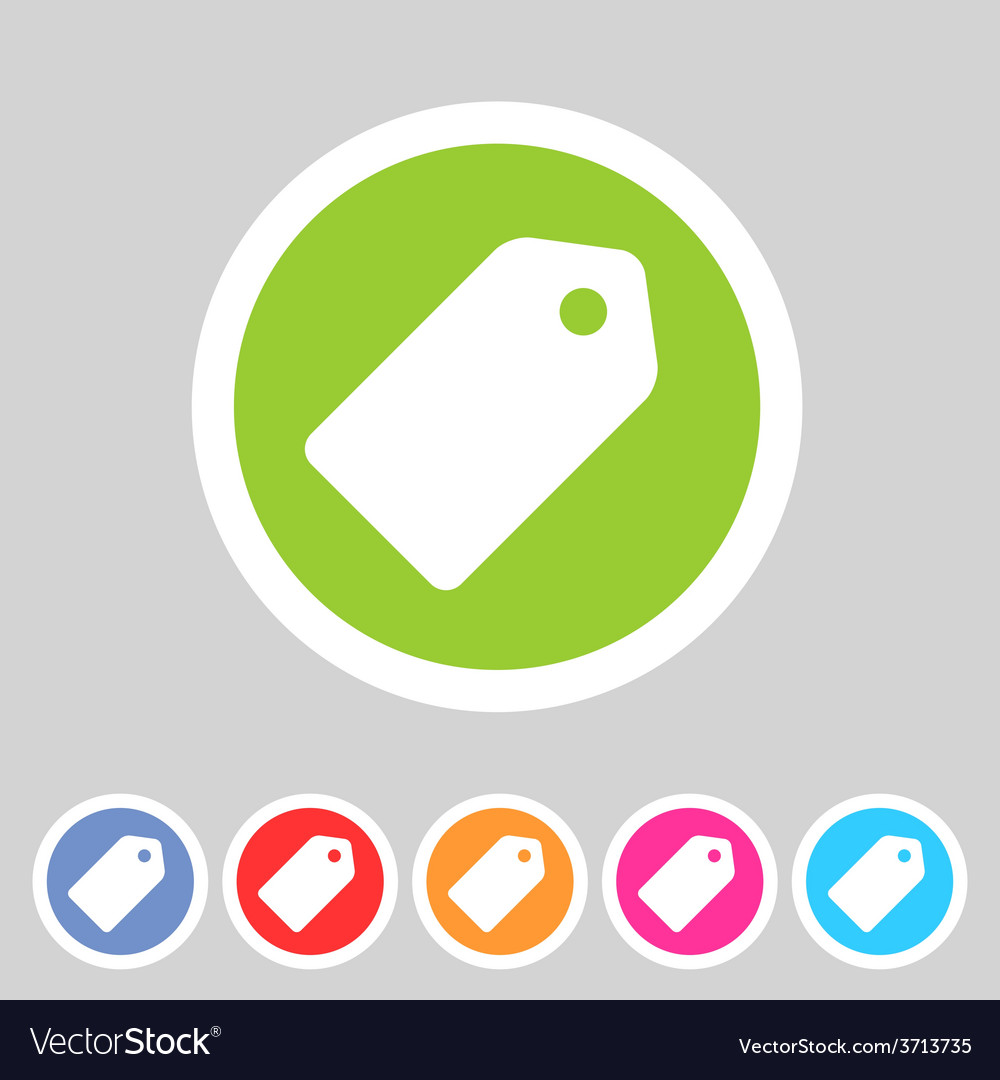 Price tag flat icon label vector