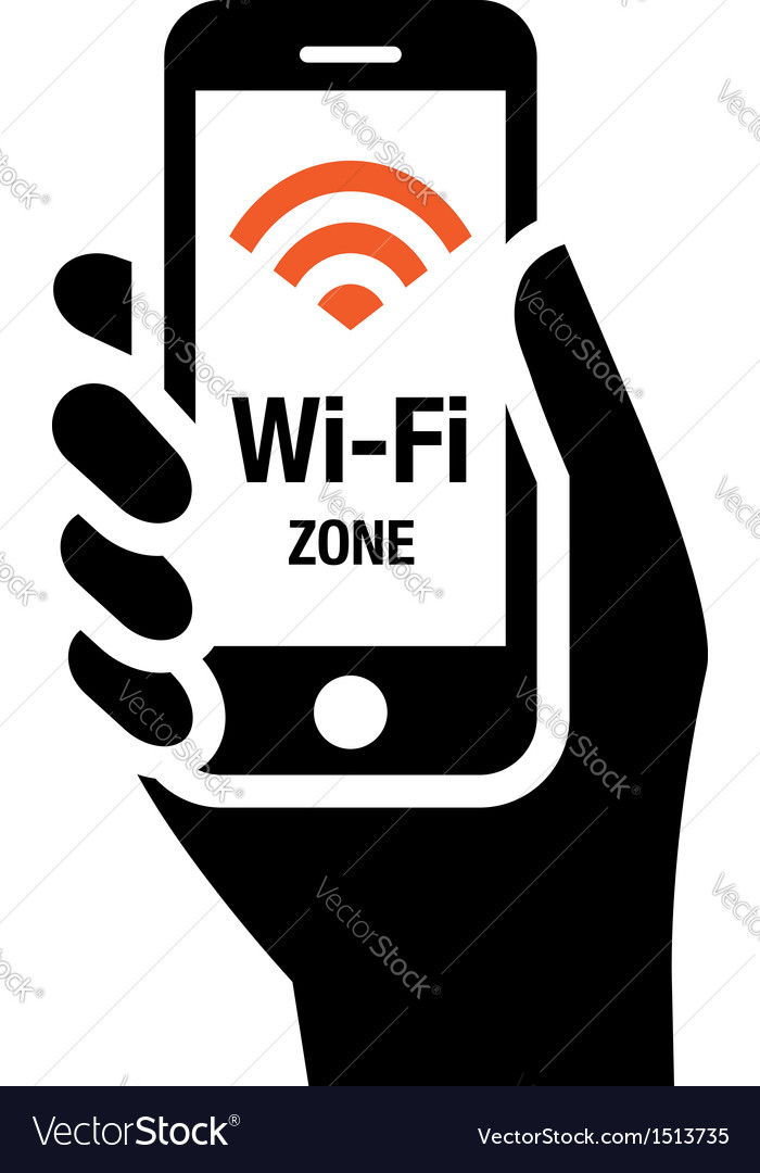 Wifi zone vector