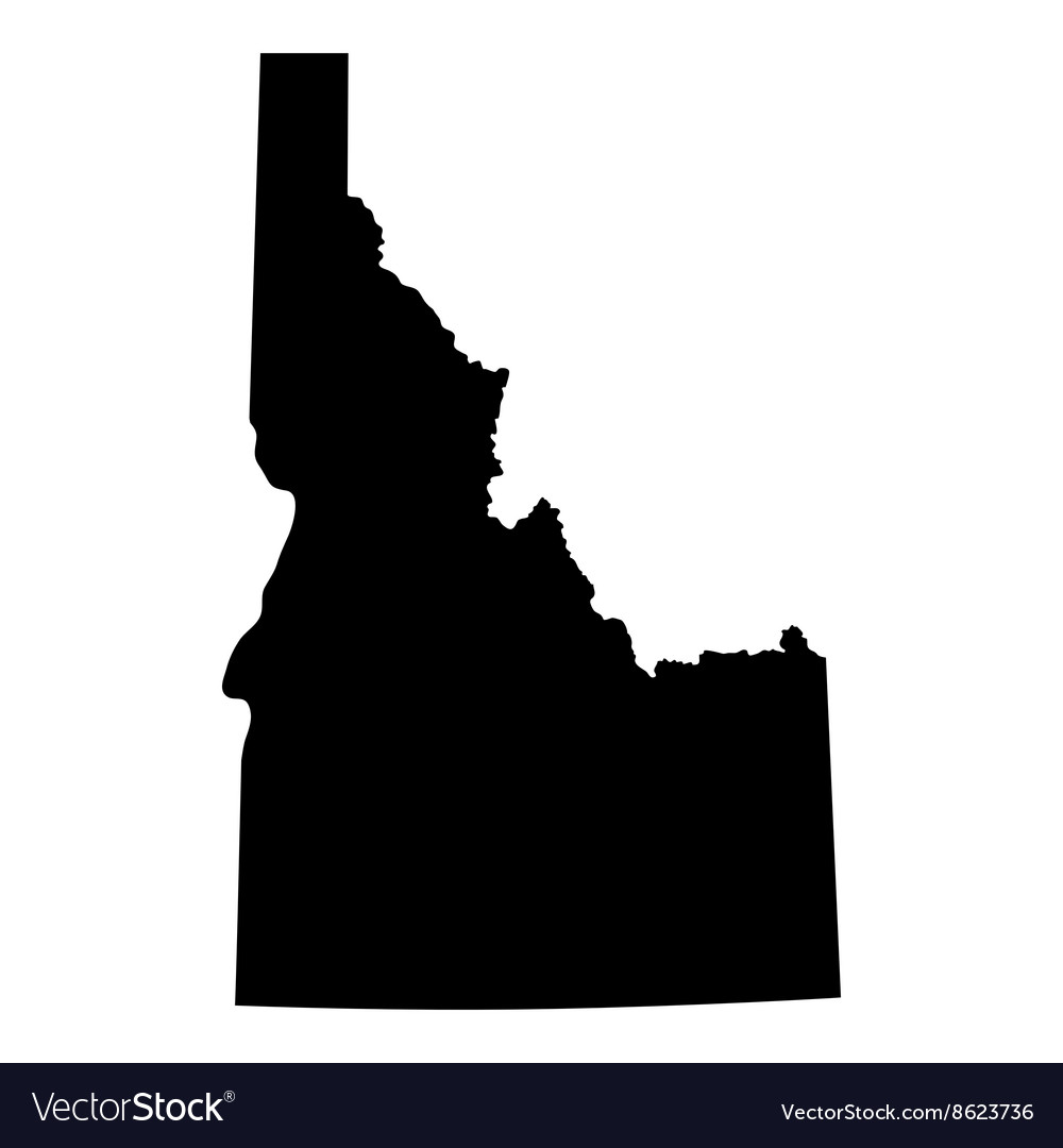 Map of the us state of idaho vector