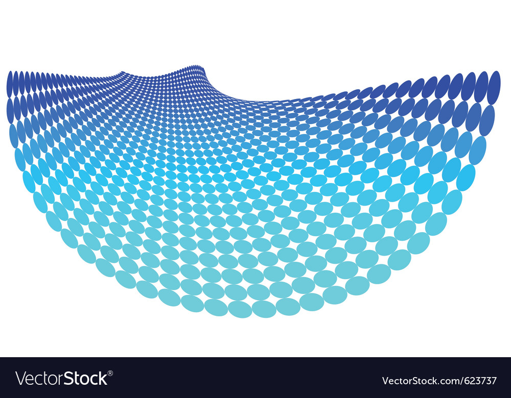 Blue abstract dots vector