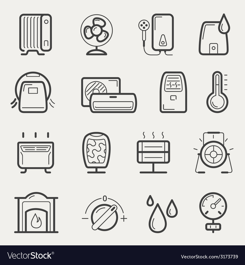 Climatic equipment vector