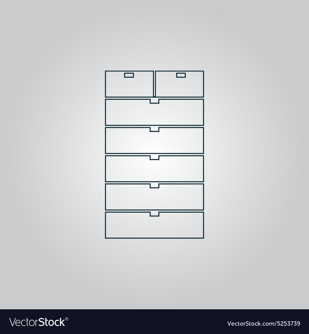 Drawer icon sign and button vector