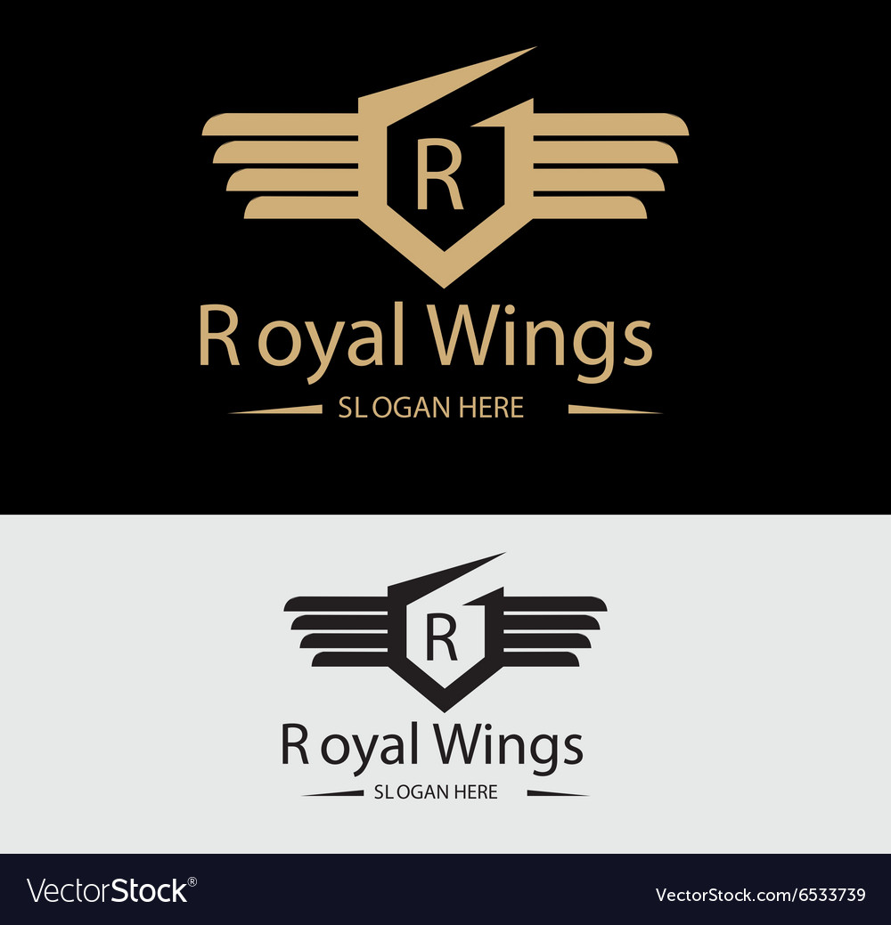 Royal wings logo vector