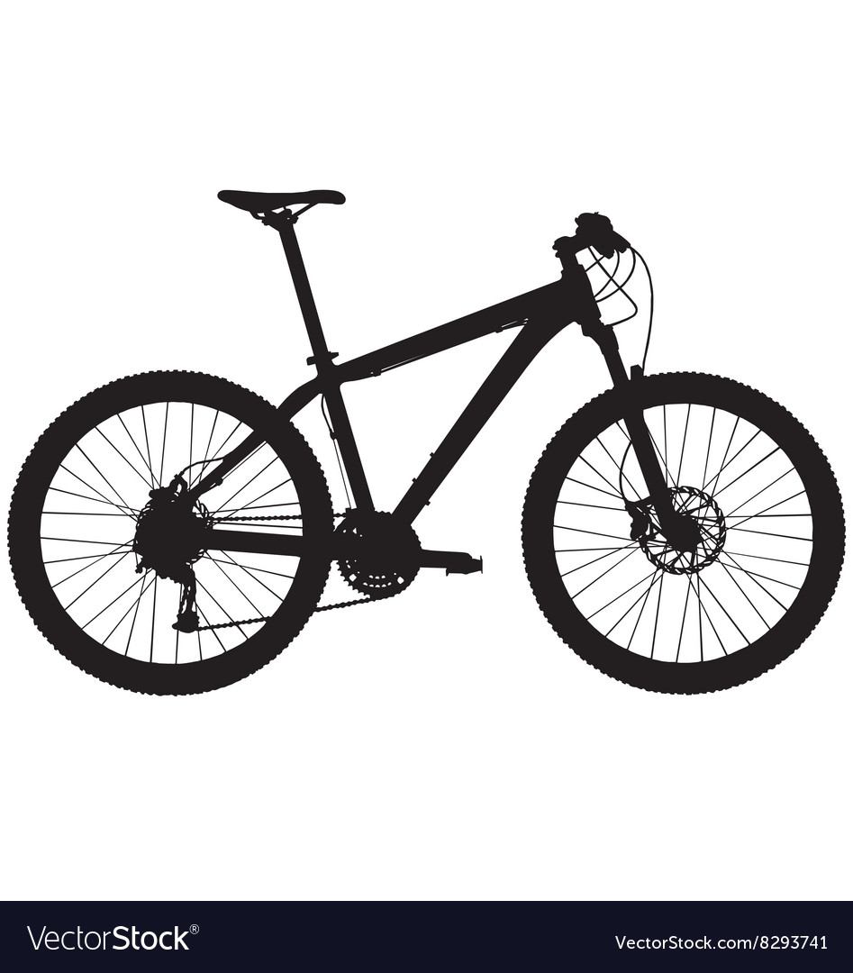 Hardtail mountain bike vector