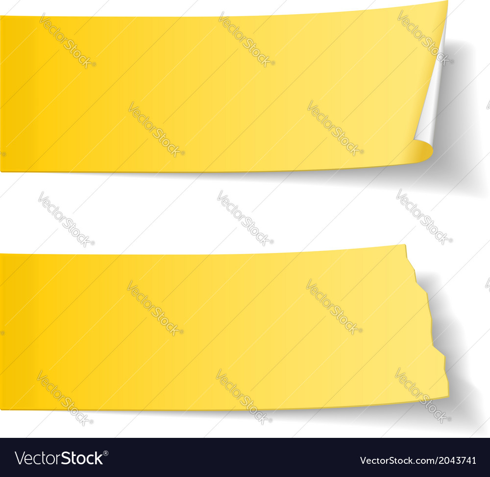 Sticky papers vector