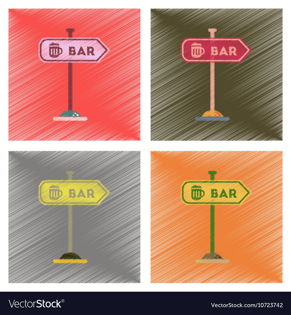 Assembly flat shading style icons sign of bar vector