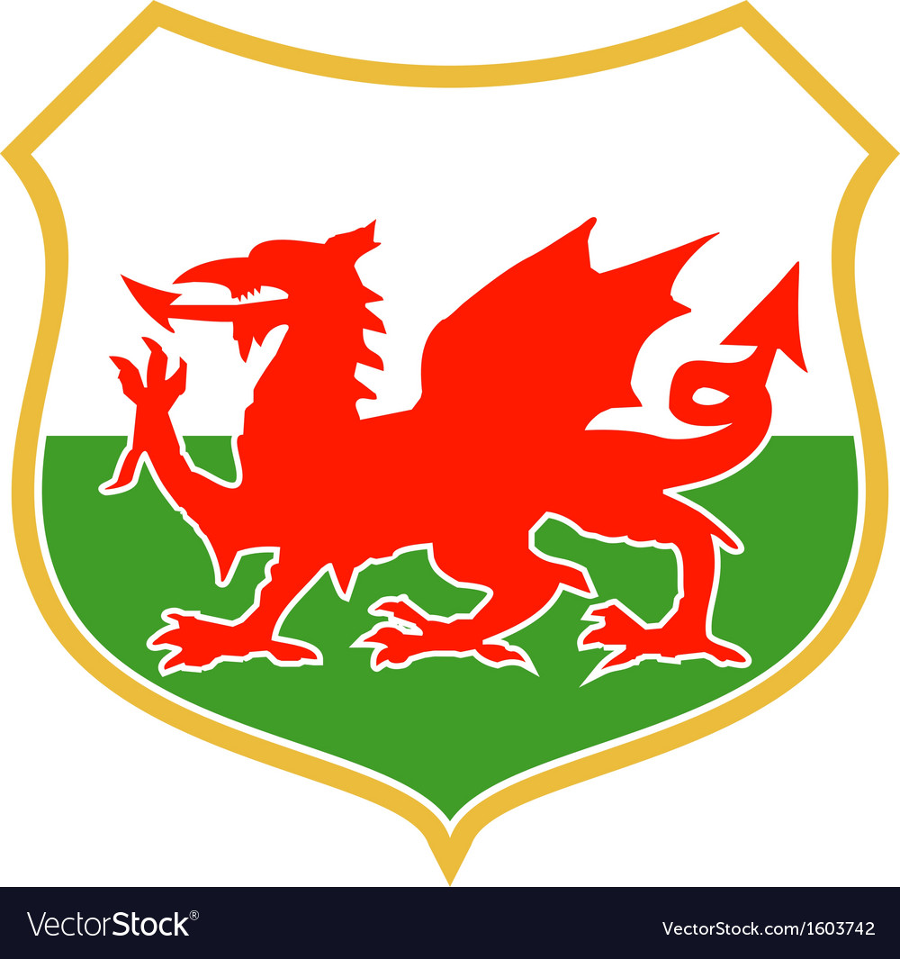 Red welsh dragon vector