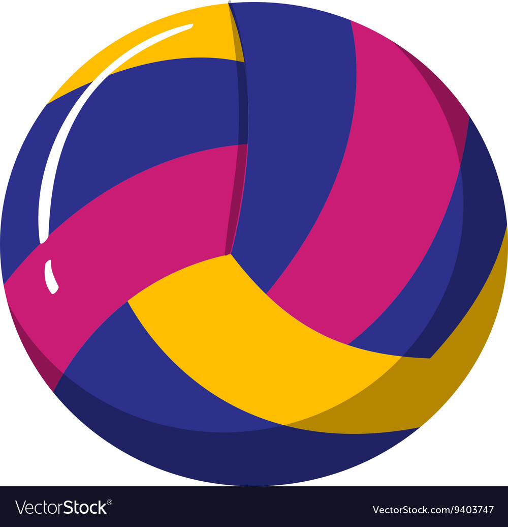 Water polo ball on white background vector