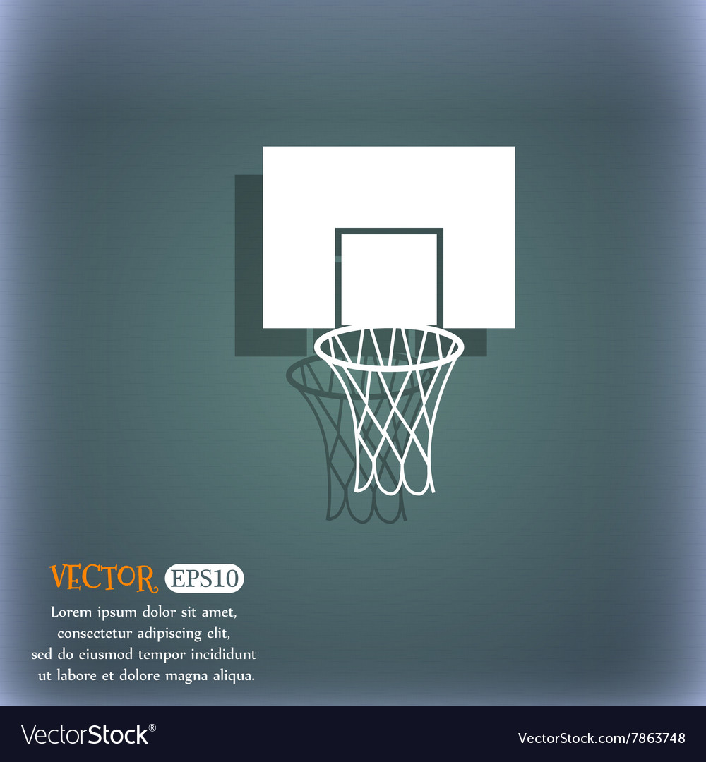 Basketball backboard icon on the bluegreen vector