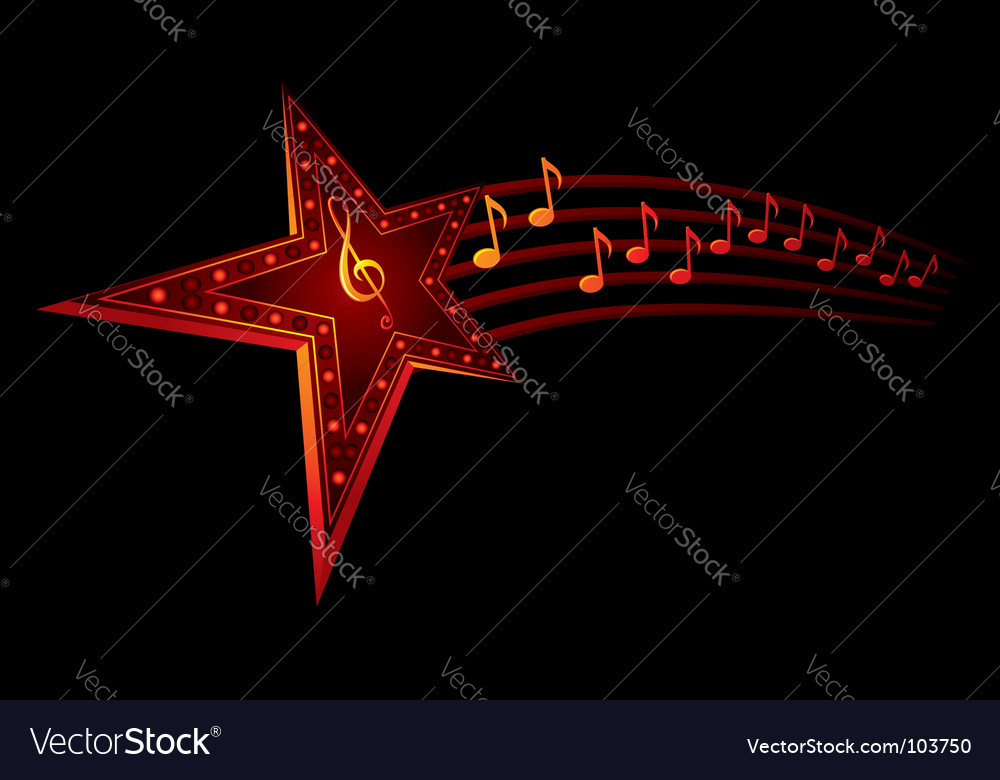 Music star vector