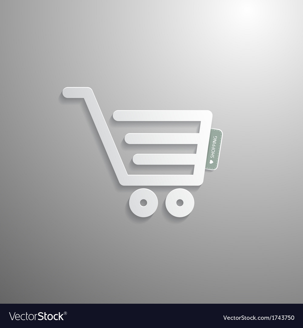 Shopping cart basket symbol vector