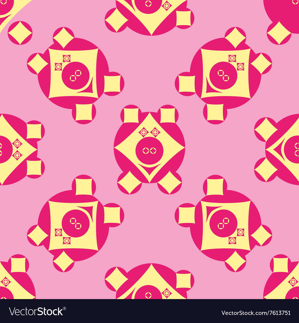 Seamless pattern with pigs vector