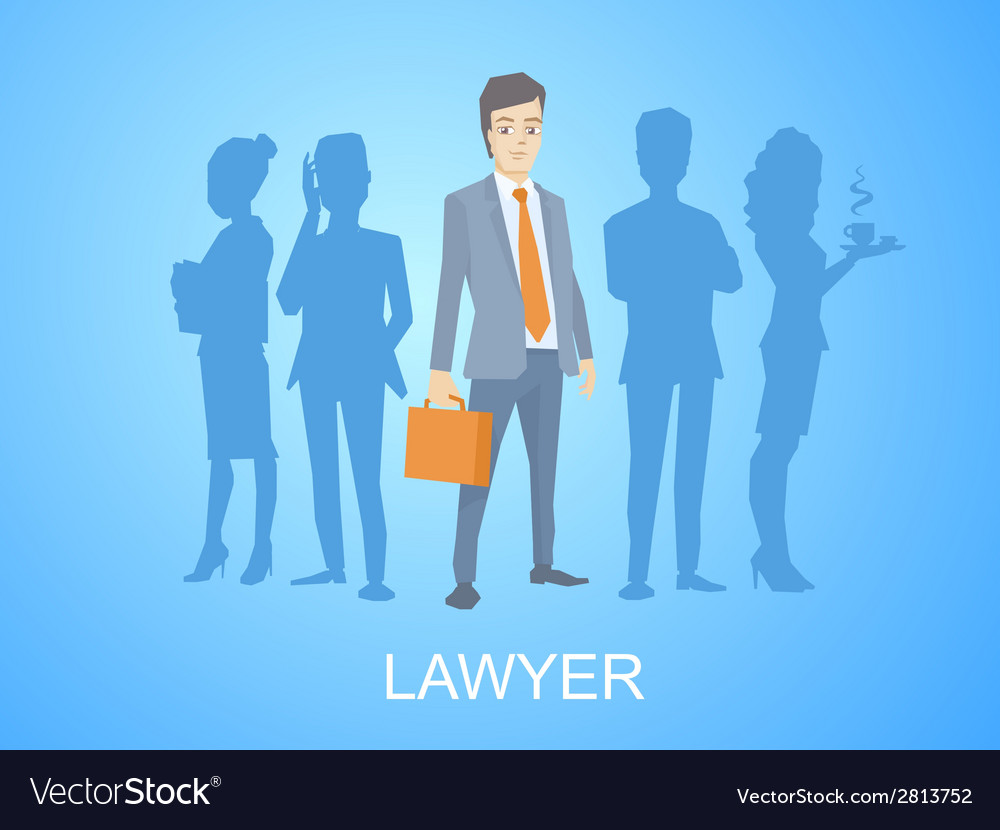 A portrait of a man in a jacket lawyer wi vector