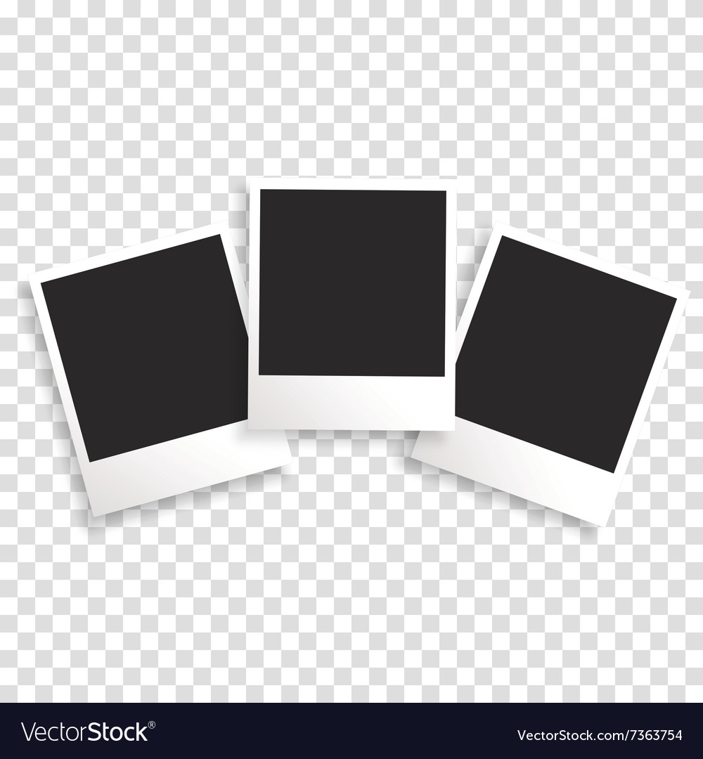 Photo frame on a transparent background vector